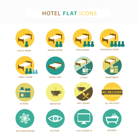 Hotel icons Stock Vector - 25314873