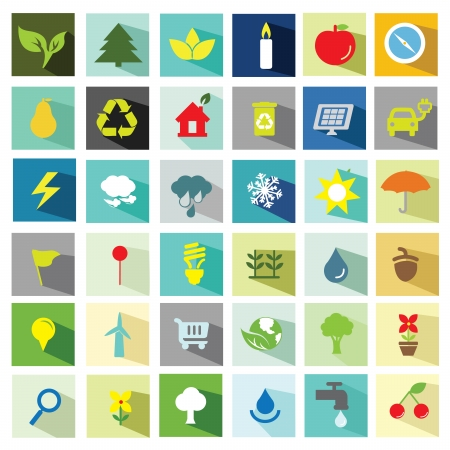 application recycle: Universal flat icons Illustration