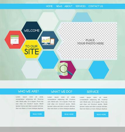 Business Web design Vector