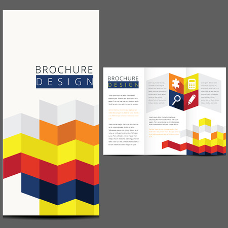 Colorful Vector Brochure Layout Design Template Vector