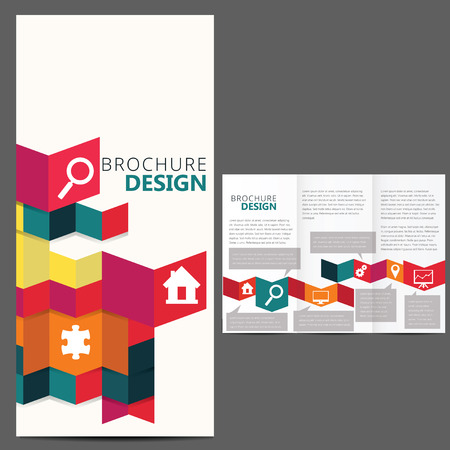 Geometric Brochure Layout Design Template Vector