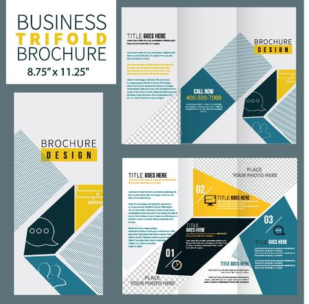 fold: Vector Brochure Layout Design Template