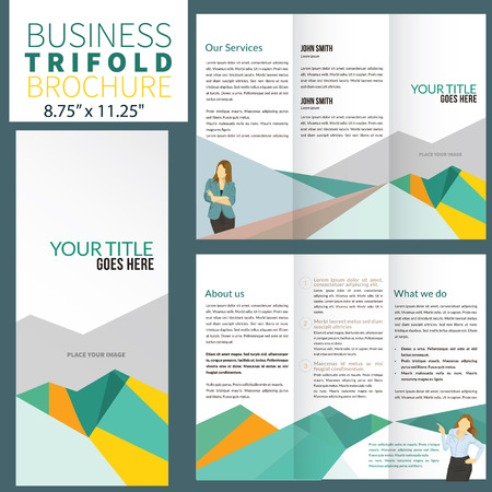 sjabloon: Brochure ontwerp Stock Illustratie