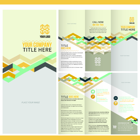 fold: Brochure Layout Design Template Illustration