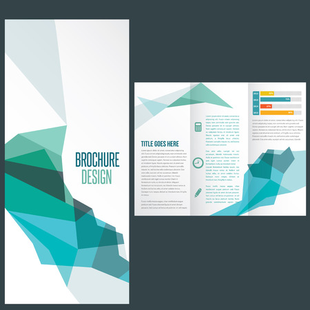 Flat design brochure Vector
