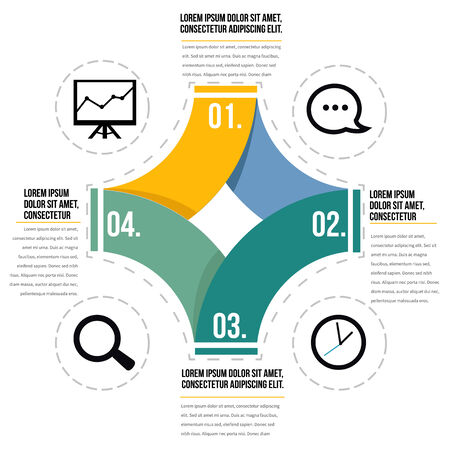 Infographic diagram design Vector