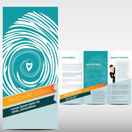 Flat social brochure design Vector
