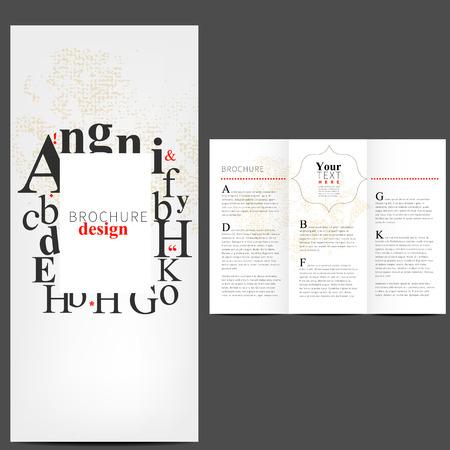 Simple Brochure Layout Design Template Vector