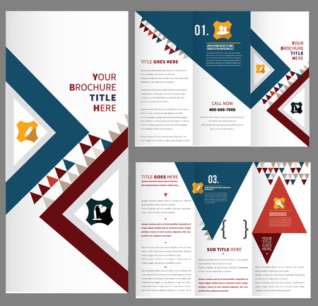 texts: Vector business brochure, flyer template