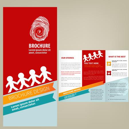 Vector Brochure Layout design template Illustration