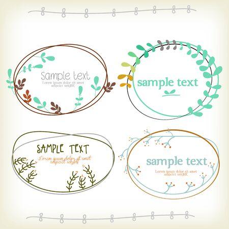 text box: Vinateg Text box with ornament design