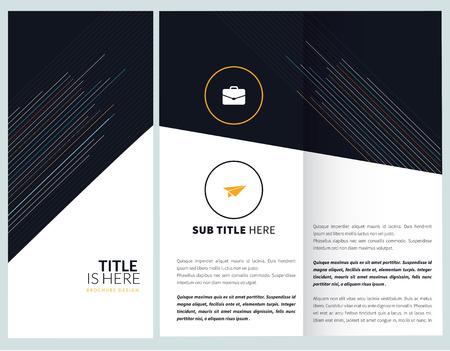 Minimal, corporate brochure, template design