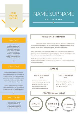 hoja de vida: Diseño Cv, plantilla del curriculum vitae