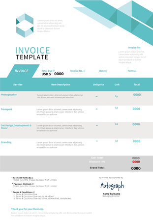 accounts payable: Invoice, template design