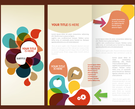 magazine layout: Vector Brochure Layout Design Template