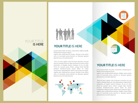 lay-out: Vector Brochure Lay-out ontwerp sjabloon