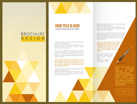 design template: Vector Brochure Layout Design Template