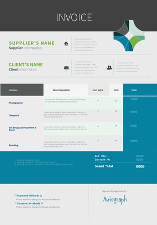 registros contables: Plantilla de factura