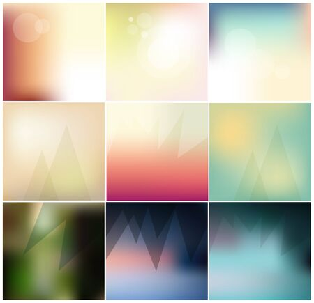harmonious: Abstract Minimal concept vector blurred background collection. For Web and Mobile Applications.