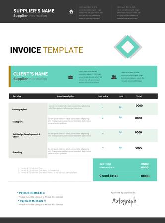 Invoice template vector design Illustration