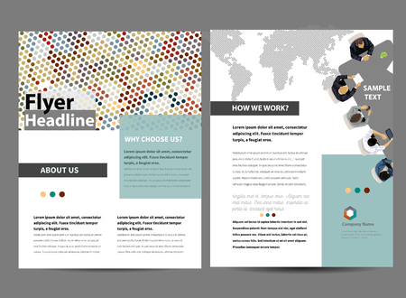 design template: Flyer Design Template in letter size Illustration