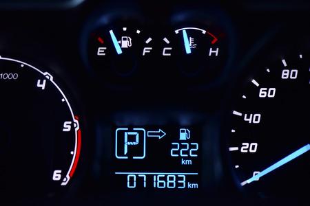 telltale: speedometer in the car