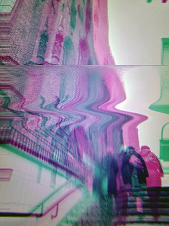 Video fx photography of people walking on a summer day