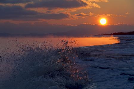 sakhalin: The Sea of Okhotsk , sunrise , island Sakhalin