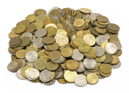 penny: money , change , penny, pile of cents