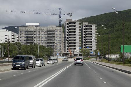 quarters: construction of residential quarters Stock Photo
