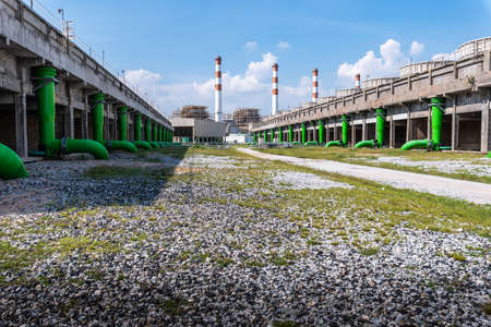 the background image of the Industrial area 免版税图像