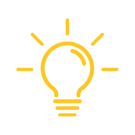 Top tips advice note icon. Idea bulb education tricks