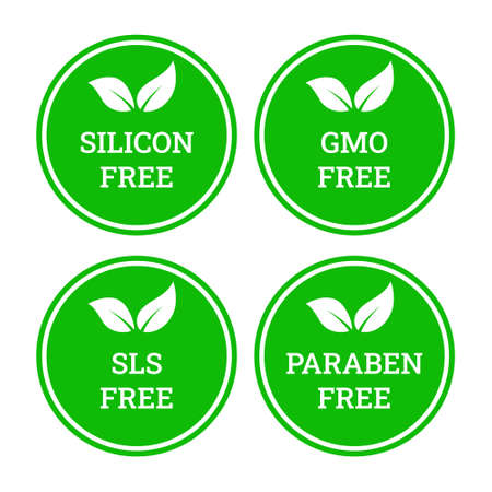 Sulfate free, paraben free vector icon.