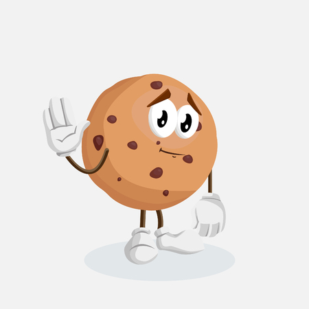 Cookies mascot and background goodbye pose with flat design style for your mascot branding. Illustration