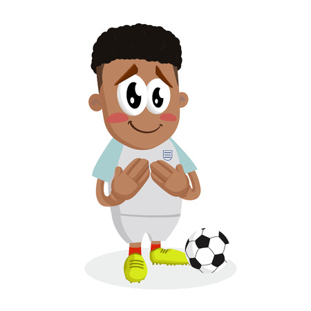 England mascot and background ashamed pose with flat design style for your mascot branding.