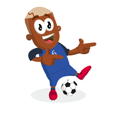 France mascot and background Hi pose with flat design style for your logo or mascot branding Imagens - 100683358