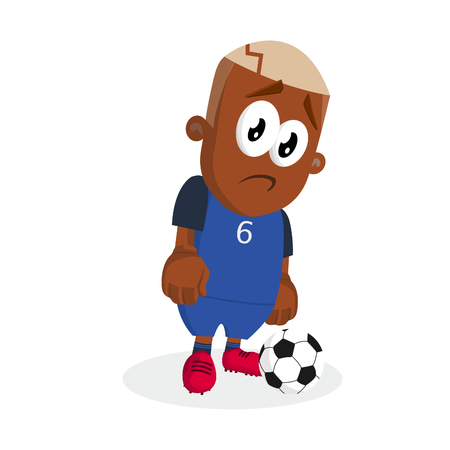 France mascot and background sad pose with flat design style for your logo or mascot branding