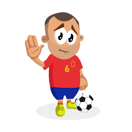 Spain mascot and background goodbye pose with flat design style for your logo or mascot branding Illustration