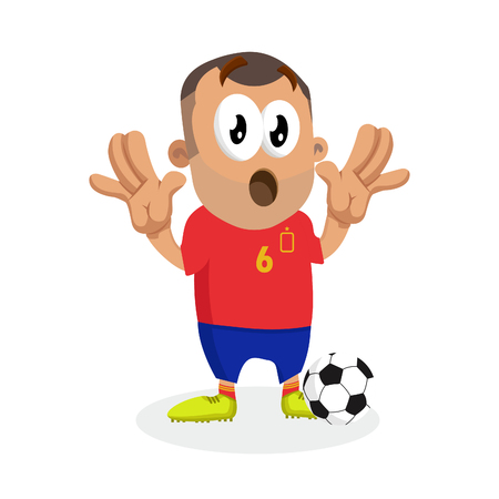 Spain mascot and background surprise pose with flat design style for your logo or mascot branding