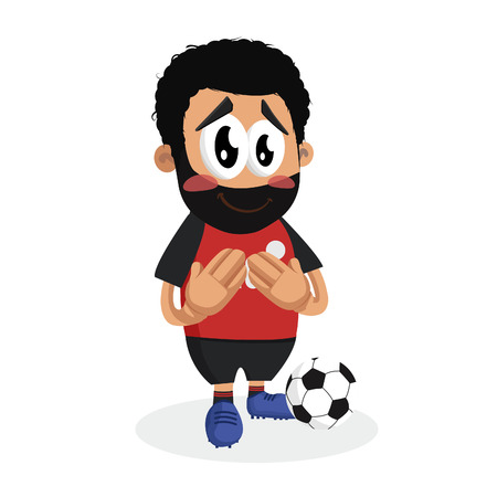 Egypt mascot and background ashamed pose with flat design style for your icon or mascot branding.
