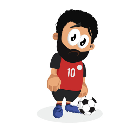 Egypt mascot and background sad pose with flat design style for your icon or mascot branding. Illustration
