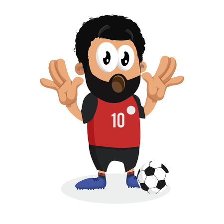 Egypt mascot and background surprise pose with flat design style for your icon or mascot branding.