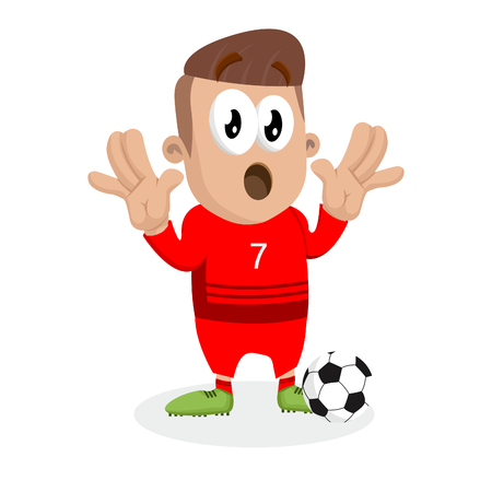 Portugal national football team mascot and background surprise pose with flat design style for your icon or mascot branding.