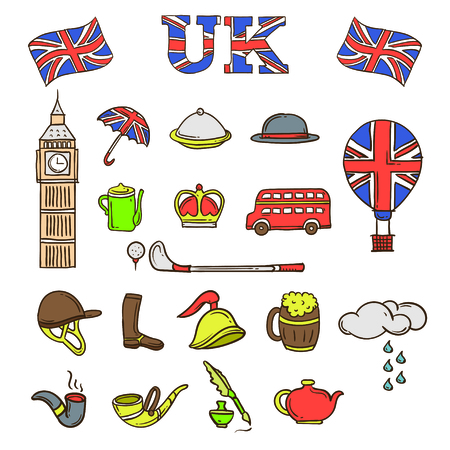 UK mascot and background with flat design style for your logo or mascot branding