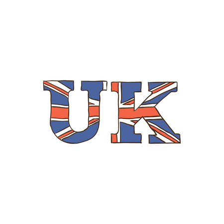 UK icon and background with flat design style