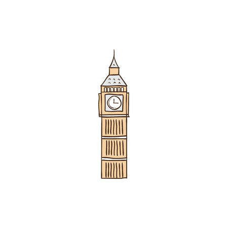 Big Ben icon and background with flat design style for your logo or mascot branding Illusztráció