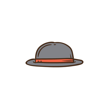 Hat icon and background with flat design style for your logo or mascot branding