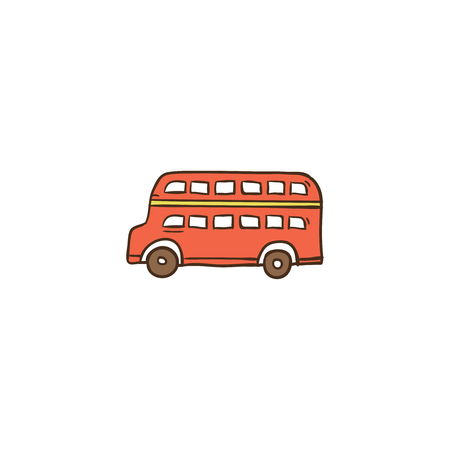 Bus icon and background with flat design style for your logo or mascot branding