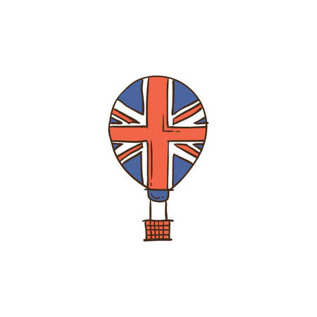 UK icon and background with flat design style for your logo or mascot branding