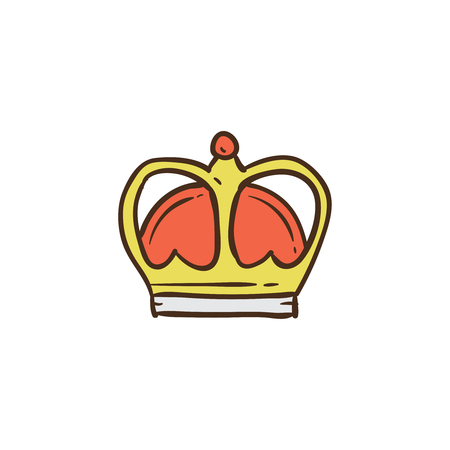 Crown icon and background with flat design style for your logo or mascot branding